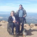 Lee and Husband with Merlot at Pikes Peak