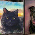 cat portrait and dog portrait